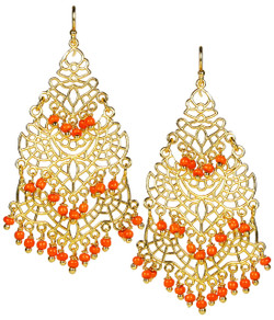 Sky Chandelier Earring - Orange