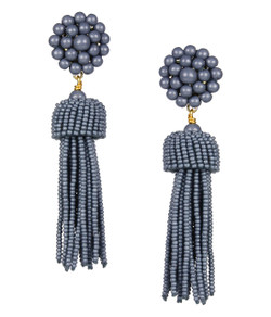 Tassel Earrings - Slate