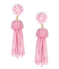 Tassel Earrings - Cotton Candy