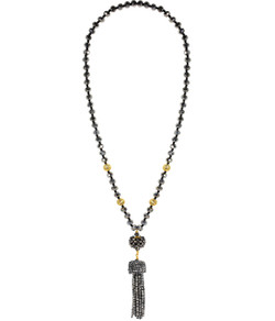 Beaded Tassel Necklace - Disco