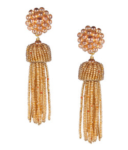Tassel Earrings - Champagne