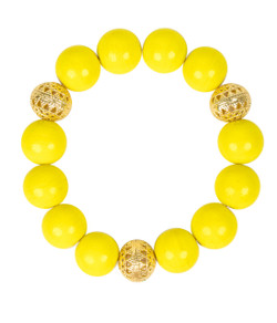 Beaded Bracelet - Lemon