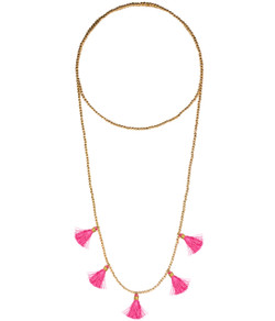Lola Necklace - Gold & Pink