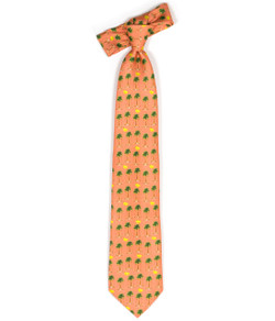 Tie - Orange Monkey Business