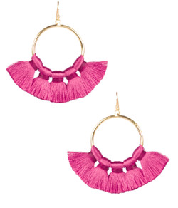 Izzy Gameday Earrings - Miss Pink - PRESALE