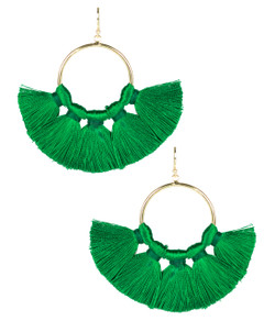 Izzy Gameday Earrings - Emerald - Pre-Order