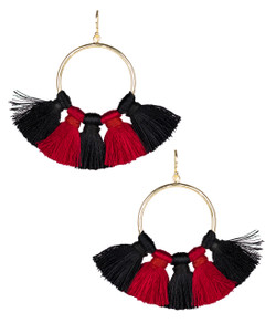 Izzy Gameday Earrings - Black & Red
