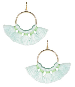 Izzy Gameday Earrings - Seafoam