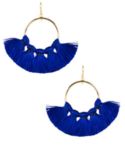 Izzy Gameday Earrings - Royal - Pre-Order
