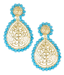 Ava - Gold & Turquoise