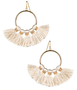 Izzy Gameday Earrings - Latte