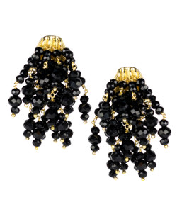 Firecracker Earrings - Czech Black