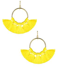 Izzy Gameday Earrings -  Yellow