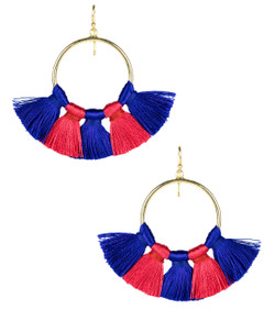 Izzy Gameday Earrings - Royal & Red