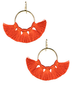 Izzy Gameday Earrings - Burnt Orange