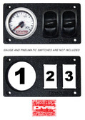 "AVS GAUGE PANEL WITH ONE 2"" INCH GAUGE AND TWO PNEUMATIC SWITCH CUT OUTS P14"