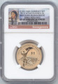 2015-W Sacagawea Dollar, Enhanced Uncirculated, NGC SP-69 Early Release, From Coin & Currency Set