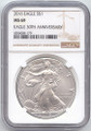 2016 American Silver Eagle, NGC MS-69, Brown Label