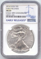 2016 American Silver Eagle, NGC MS-69, Early Release, Blue Label