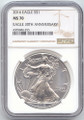2016 American Silver Eagle, NGC MS-70, Brown Label