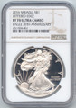 2016-W Proof American Silver Eagle, NGC PF-70 Ultra Cameo, Brown Label