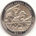 2017 S Washington Enhanced Uncirculated George Rogers Clark National Historic Park (Indiana) Quarter Uncirculated