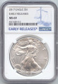 2017 American Eagle Silver Early Release Label 1 OZ MS-69 NGC