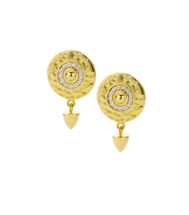 TIBETAN EMPRESS STUD EARRINGS - GOLD