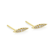 SPARTAN SPEAR EARRINGS - GOLD