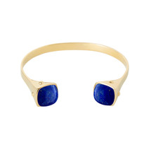 TWO TRIBES LAPIS CUFF - GOLD