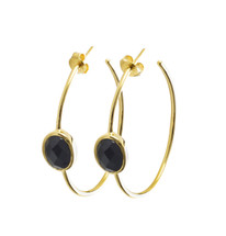 ORACLE HOOP EARRINGS - ONYX