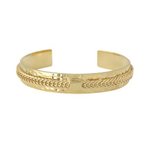 SPARTAN THIN CHAIN CUFF - GOLD