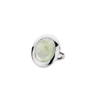 EMPIRE PREHNITE SHIELD RING - SILVER