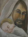 Jesus Caresses the Baby