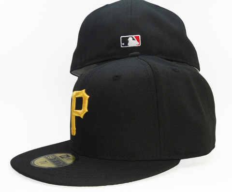 05df99fd28e ... low price pittsburgh pirates new era 2004 gray bottom fitted hat black  gold 19189 fbc36