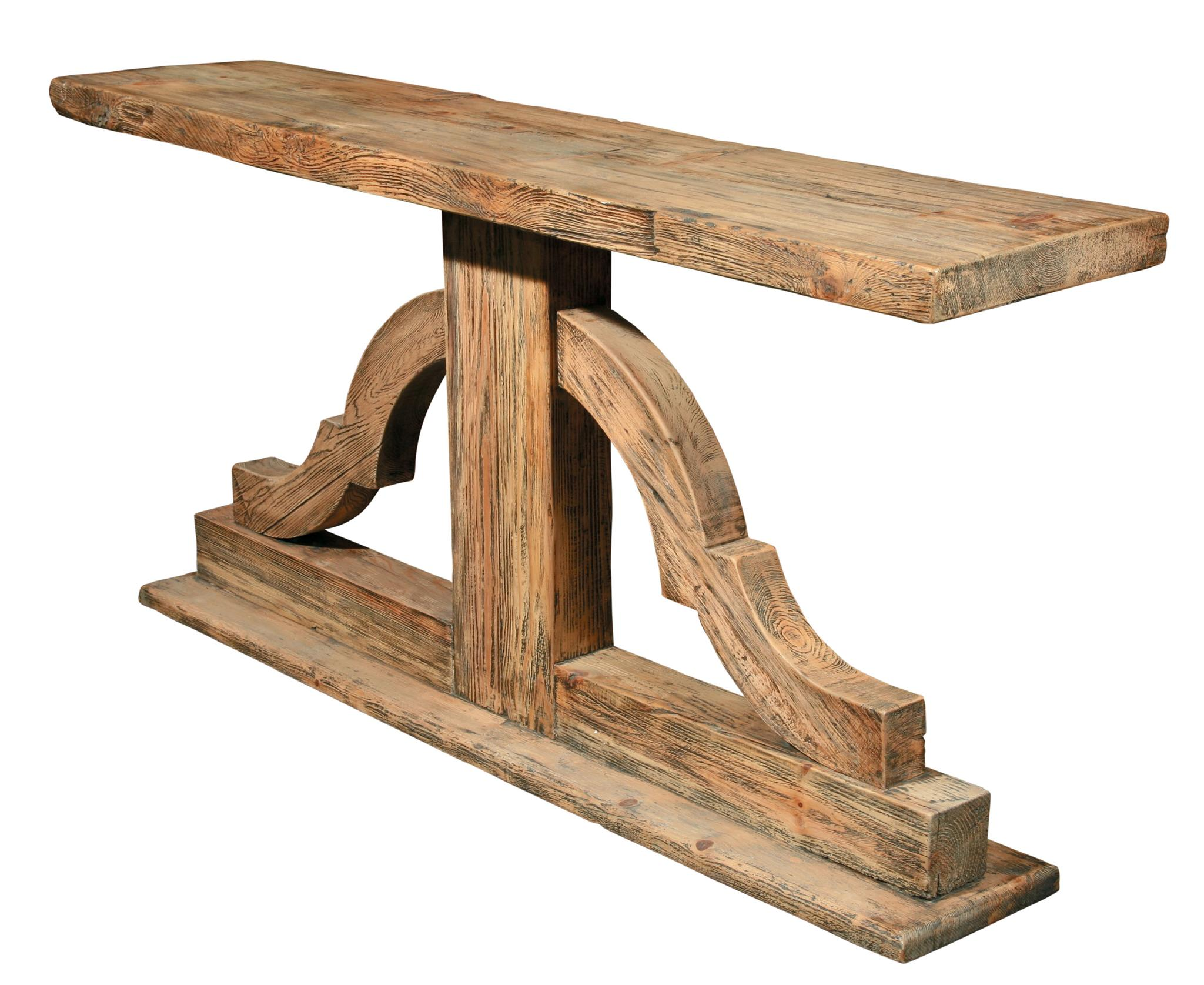 rustic wood console   reclaimed wood - warranty information