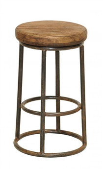 Industrial Counter Stool - Reclaimed Wood