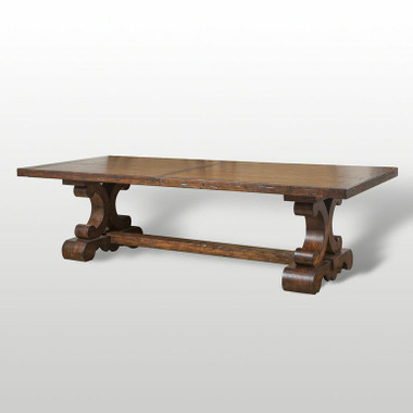Spanish colonial extra long extension dining table for 144 dining table