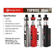 Kanger Topbox Mini includes 30ML of GC Juice