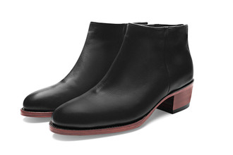BLACK CALF ANKLE BOOTS