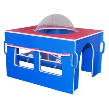 Cockpit Infant Toddler Developmental Play Station, in Patriotic Red, White and Blue Color Scheme 1
