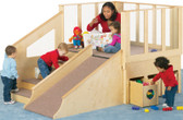 Jonti-Craft Tiny Tots Loft - Indoor Wooden Playground for Toddlers and Infants 1