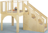Jonti-Craft Tots Loft - Indoor Wooden Playground for Toddlers 1