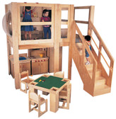 Mainstream Explorer 5 School Age Loft, 96''w x 48''d x 60''h platform