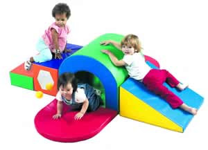 Children's Factory Alpine Tunnel Slide Soft Climber 1