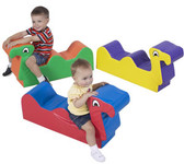 Children's Factory Nessie the Loch Ness Monster & Family Soft Ride-ons 1