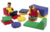 Children's Factory Round Floor Cushions with Handle 1