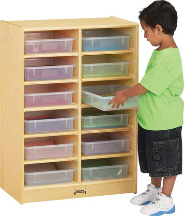 Jonti-Craft 12 Paper-Tray Cubbie with paper-trays 1