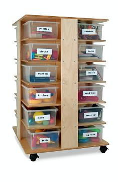 Whitney Brother Preschool Cubby Tower Art Storage Furniture 1