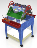 "Childbrite Youth Mobil Sand and Water Activity Center Easel - 24"" Tall"